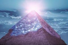 吉萨棉金字塔,在埃及 库存图片