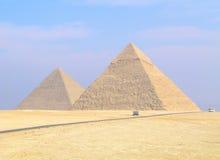 吉萨棉金字塔 免版税图库摄影