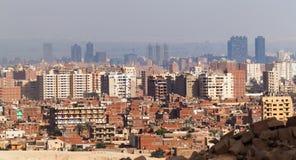 从吉萨棉高原的开罗视图 库存图片