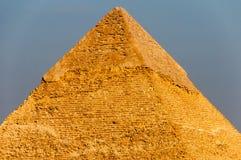 吉萨棉高原,开罗的埃及金字塔 库存照片