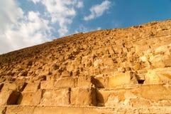 吉萨棉高原,开罗的埃及金字塔 库存图片