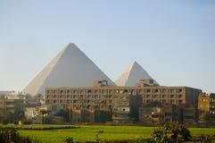 吉萨棉高原-开罗-埃及 库存照片