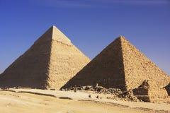 吉萨棉,开罗伟大的金字塔  免版税图库摄影