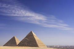 吉萨棉,开罗伟大的金字塔  免版税库存照片
