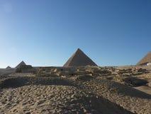 吉萨棉,开罗埃及金字塔  库存照片