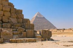 吉萨棉,开罗金字塔  库存照片
