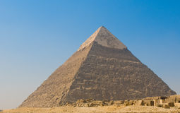 吉萨棉,开罗金字塔  库存图片