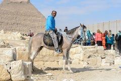 吉萨金字塔群,埃及 库存图片
