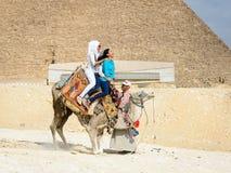 吉萨金字塔群,埃及 库存照片