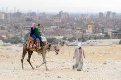 吉萨金字塔群,埃及 免版税库存照片