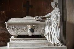 吉诺Capponi坟茔大教堂二的三塔Croce在佛罗伦萨,意大利 库存图片