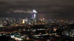 吉隆坡亮光在夜 免版税图库摄影