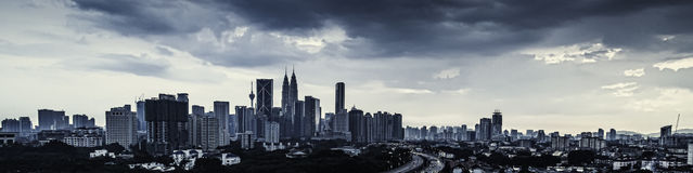 吉隆坡全景 库存照片