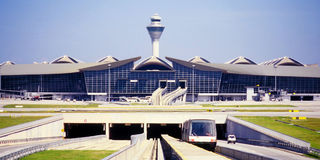 吉隆坡国际机场(KLIA) 库存照片