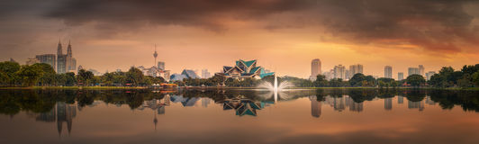 吉隆坡地平线美好的都市风景  库存图片