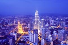 吉隆坡地平线-马来西亚 免版税库存图片