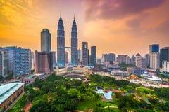 吉隆坡地平线 库存图片