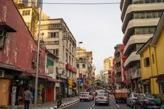 吉隆坡地方bussines街道在吉隆坡 图库摄影
