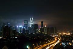 吉隆坡天然碱双塔 免版税库存图片