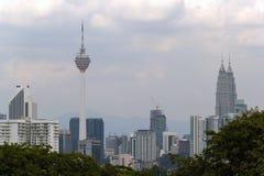 吉隆坡市地平线白天 库存照片