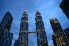吉隆坡市地平线,马来西亚 免版税库存照片