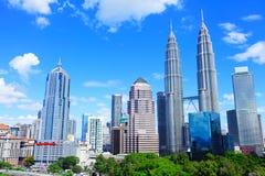 吉隆坡市地平线 免版税图库摄影