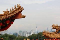 吉隆坡市形式看法Thean后屿寺庙 免版税库存照片