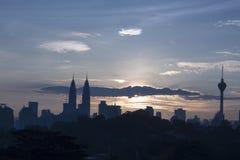 吉隆坡市scape 库存照片