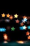 吉隆坡抽象星形状bokeh背景  免版税图库摄影