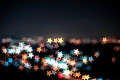 吉隆坡抽象星形状bokeh背景  库存照片