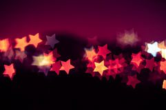 吉隆坡抽象星形状bokeh背景  免版税库存图片