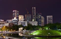吉隆坡晚上地平线 免版税库存图片