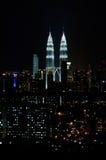 吉隆坡晚上 免版税库存图片