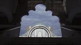 吉隆坡清真寺城市scape 图库摄影