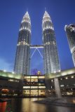 吉隆坡马来西亚天然碱塔孪生 库存照片