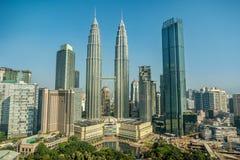 吉隆坡马来西亚天然碱耸立孪生 免版税图库摄影