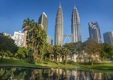 吉隆坡马来西亚天然碱耸立孪生 免版税库存图片