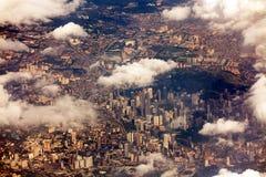 吉隆坡鸟瞰图 免版税库存图片