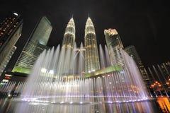吉隆坡,马来西亚城市地平线。 天然碱双塔。 免版税图库摄影