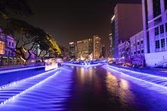 吉隆坡,马来西亚, 2017年12月15日:生活河全景  图库摄影