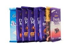 吉隆坡,马来西亚- 2017年12月15日, 吉百利巧克力 吉百利是英国多民族糖果店公司 免版税库存图片