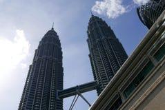 吉隆坡,马来西亚- 2018年3月4日:双峰塔的看法在KLCC市中心 库存图片