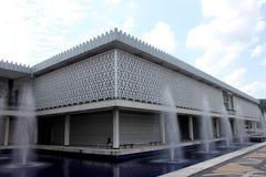 吉隆坡,马来西亚- 2017年2月01日:马来西亚的全国清真寺在吉隆坡 免版税库存图片