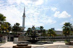 吉隆坡,马来西亚- 2017年2月01日:马来西亚的全国清真寺在吉隆坡 库存照片