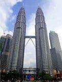 吉隆坡,马来西亚- 2017年1月14日:双峰塔在KLCC市中心 在马来语的最普遍的旅游目的地 免版税库存照片
