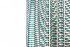 吉隆坡,马来西亚- 12月2017 07日:天然碱双塔背景 免版税库存图片