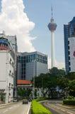 吉隆坡,马来西亚- 2016年1月16日:都市风景看法  KL塔在背景中 图库摄影
