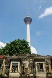 吉隆坡,马来西亚- 2016年1月16日:都市风景看法  KL塔在背景中 库存图片
