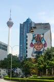 吉隆坡,马来西亚- 2016年1月16日:都市风景看法  KL塔在背景中 免版税库存照片