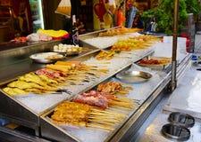 吉隆坡, 2017年1月14日-街道食物在吉隆坡 库存图片